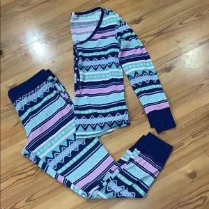 Victoria Secret thermal pajama set Size Large